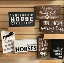 Tabletop Horse Block Decor