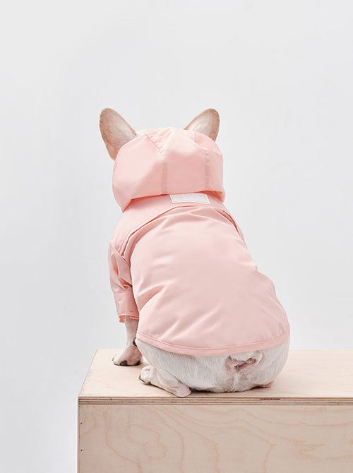YOUGUN LEE - ADJUSTABLE RAINCOAT - LIGHT PINK
