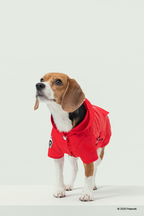 PEANUTS-SNOOPY RAINCOAT-RED