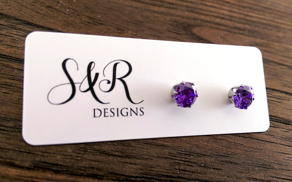 Stainless Steel Cubic Zirconia Earrings
