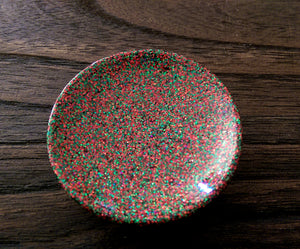 Resin Trinket Ring Dish Christmas Glitter Mix - Silver and Resin Designs