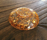 Hand Made Resin Ring Dish Gold Foil - Silver and Resin Designs