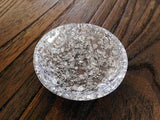 Hand Made Resin Trinket Ring Dish Silver Foil Mix