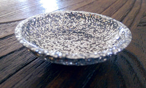 Resin Ring Trinket Dish Silver Glitter Mix - Silver and Resin Designs