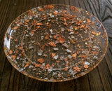 Resin Plate Platter Silver, Gold and Rose Gold Foil Mix