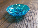 Hand Made Resin Ring Dish Brilliant Blue and Silver Leaf mix. - Silver and Resin Designs