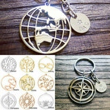 Personalised Keyring Design your own Charm Keyring with Personalised Hand Stamped Disc. Fathers Day, Mothers Day, Christmas.