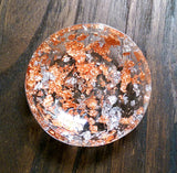 Resin Ring Trinket Dish Rose Gold and Silver Leaf Generous mix. - Silver and Resin Designs