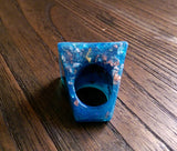 Statement Square Resin Ring, Handmade Size 7 US N AU Blue Silver Gold Rose Gold Leaf Ring