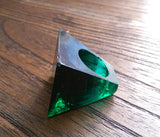 Statement Square Resin Ring, Handmade Size 7 US N AU Dark Green Emerald Ring