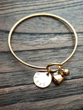 Personalised Hand Stamped Name Charm Gold Disc Jump Ring Only. Choose 10mm or 15mm