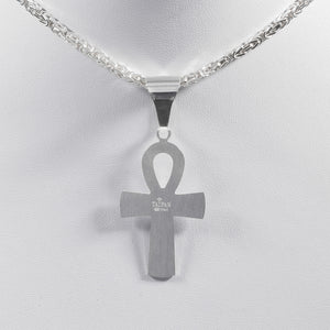 Ankh Kreuz Anhänger aus 925 Sterling Silber Made in Italy (PE80)