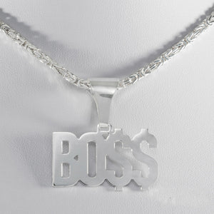 BOSS Anhänger aus 925 Sterling Silber Made in Italy (PE67)
