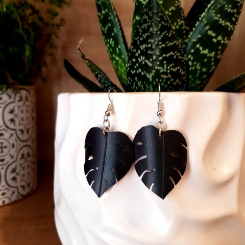 Wild Creations Earrings ~ Monstera Leaf