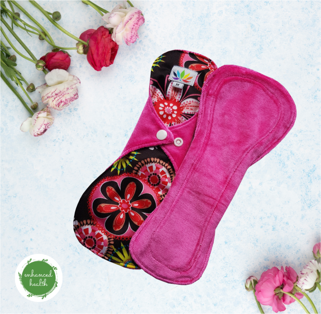 "MENSTRUAL CLOTH PAD HEAVY TWIN PACK ""NIGHT TIME"" (Postpartum)"