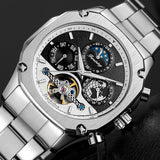 Tourbillon Mechanical Moonphase Automatic Watch -