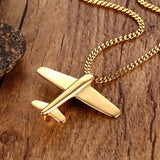 Airplane Jet Pendant Necklace