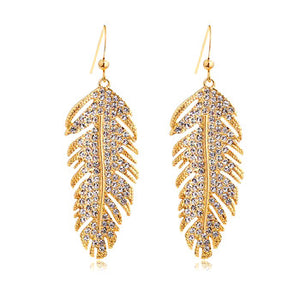 Stunning Gold Feather Earring - JewelMeDown