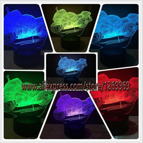 Motorcycle 3D LED Night Light