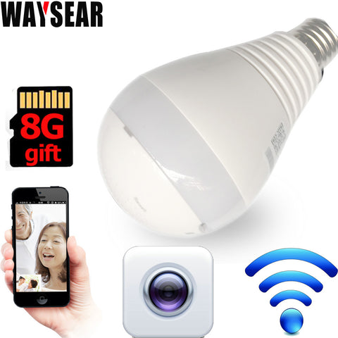 LED Bulb Light with 360 degree video camera