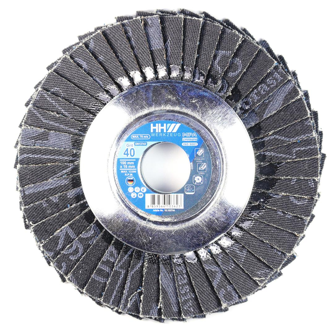 FLEXIBLE FLAP DISC FOR STEEL AND STAINLESS STEAL GRIT 40