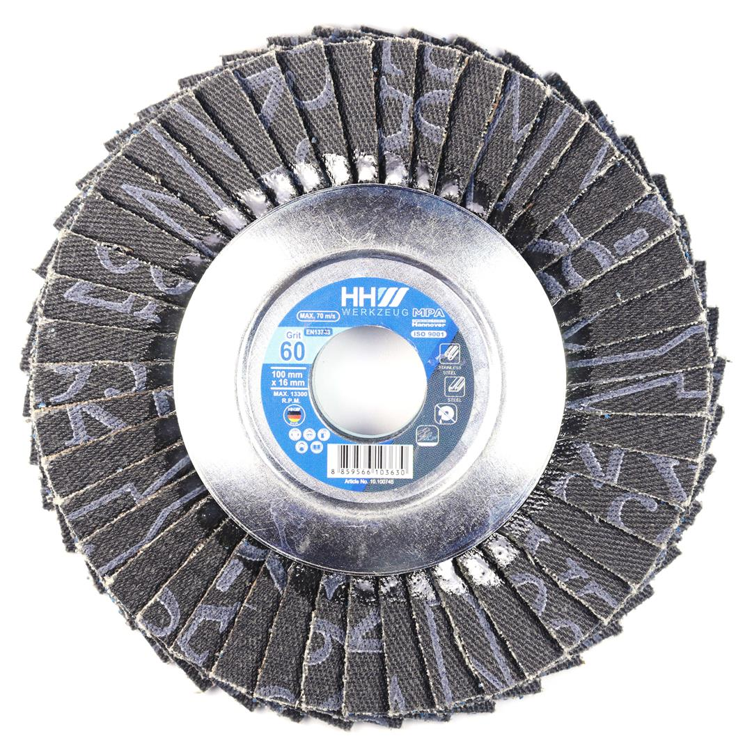 FLEXIBLE FLAP DISC FOR STEEL AND STAINLESS STEAL GRIT 60