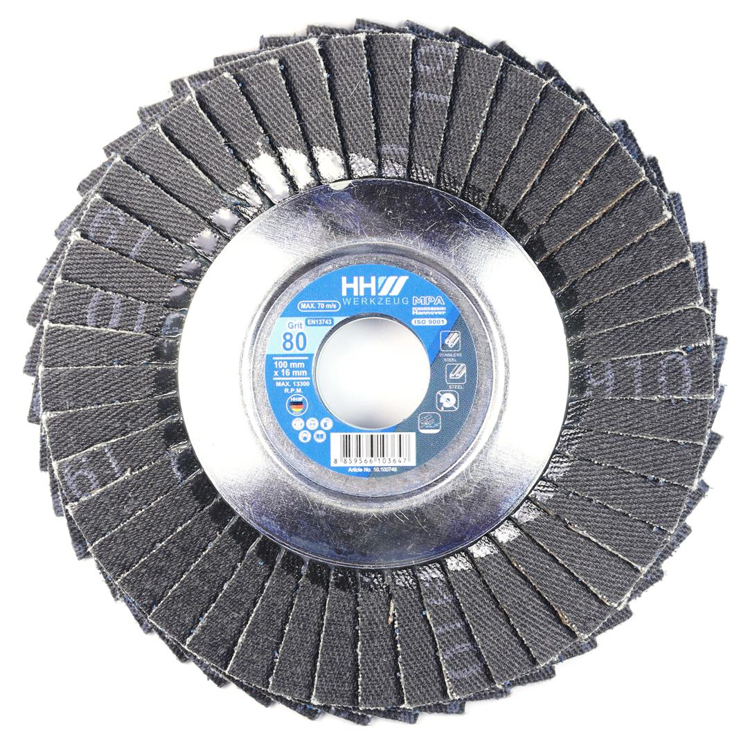 FLEXIBLE FLAP DISC FOR STEEL AND STAINLESS STEAL GRIT 80