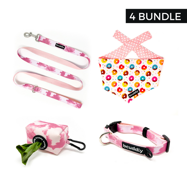 Pink Blush 4 (Leash, Collar, Bandana, Poop Bag Holder)