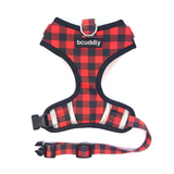 Control Dog Harness - Red Plaid Classic