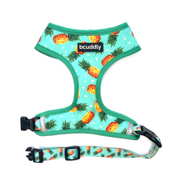 Reversible Dog Harness - Pineapple Party