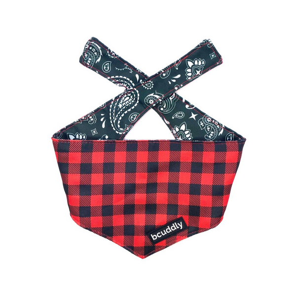 Dog bandana - Red Plaid Classic