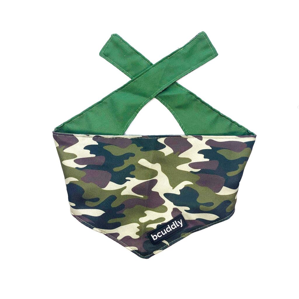 Dog bandana - Adventure (Camo Olive Green)
