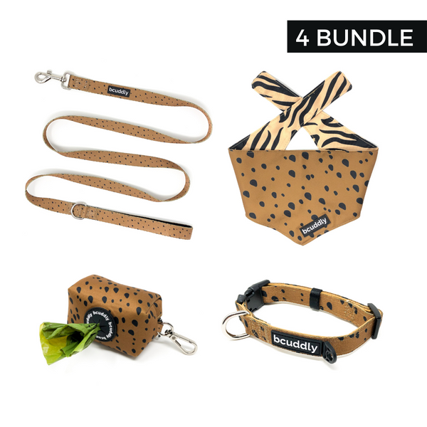 Chill Cheetah (Leash, Collar, Bandana, Poop Bag Holder)