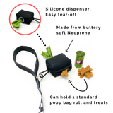 Black (Leash, Harness, Collar, Poop Bag Holder)