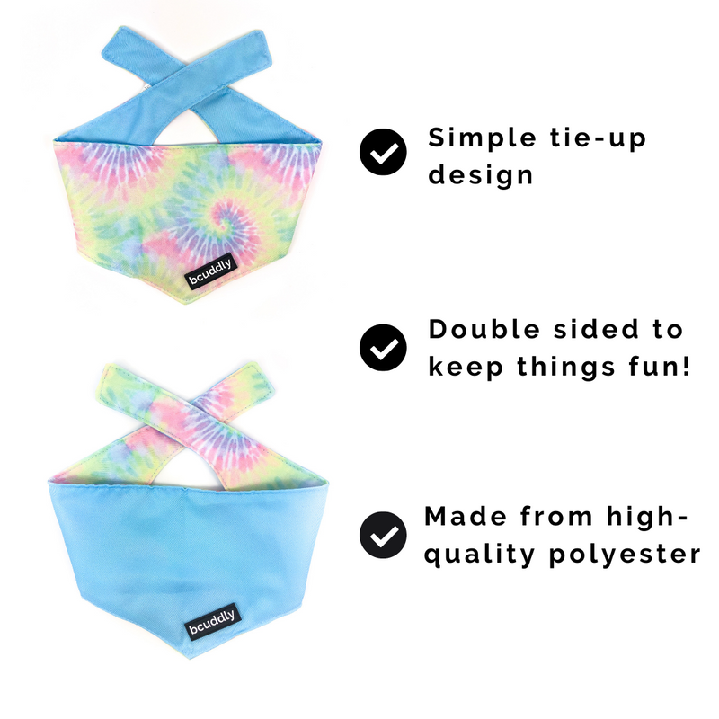Tie-Dye 4 (Leash, Collar, Bandana, Poop Bag Holder)