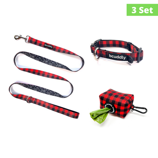 Cozy Plaid (Leash, Harness, Poop Bag Holder)