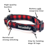 Red Plaid (Leash, Harness, Collar, Poop Bag Holder)