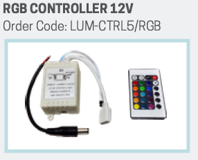RGB Controller + Power supply for 12V RGB strip lights (Lumax)
