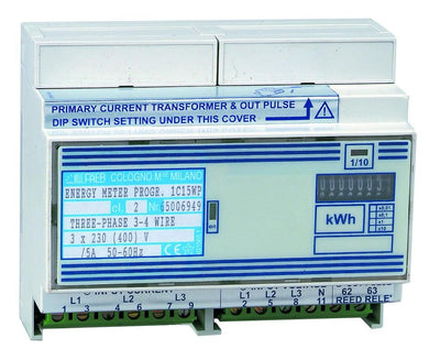 Programmable three-phase active energy meter