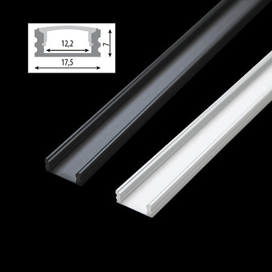Aluminium profile without cover