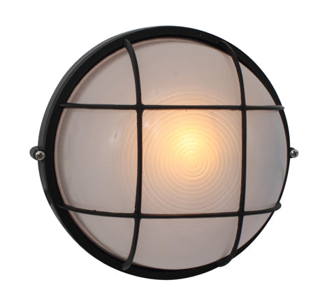 Round Large Grid B/Head 240mm Black 1x100w