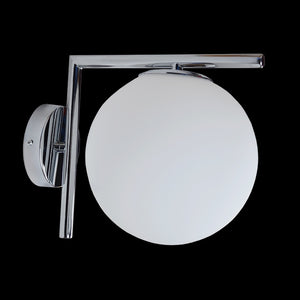 40W E27 Branch Glass Wall Light, Chrome