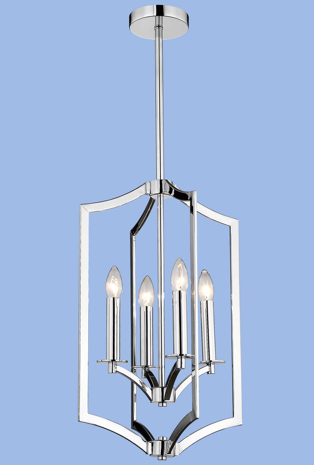 Polished Chrome Chandelier - CH086/4 CHROME