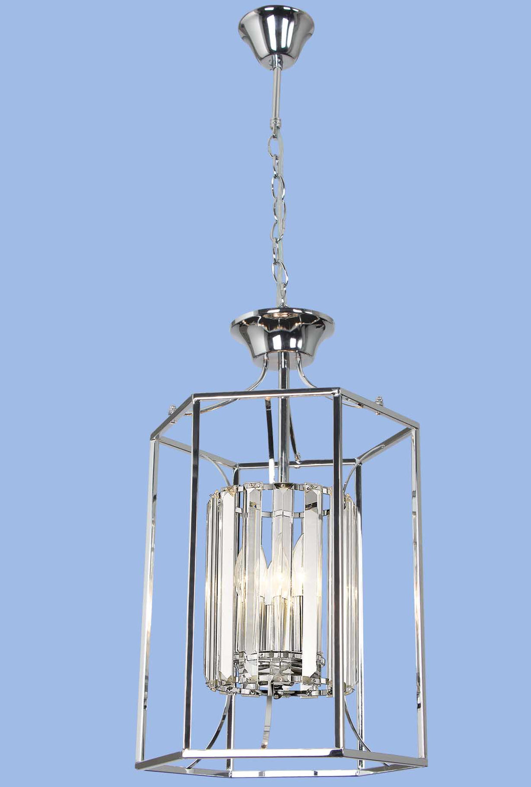 Polished Chrome Chandelier with Crystals - CH088/3 CHROME