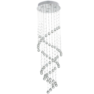 Stainless Steel Chandelier with Crystals