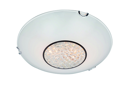 Crystal Ceiling Light 300mm White
