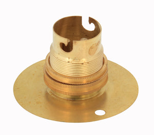 50mm Batten Lampholder Brass B22