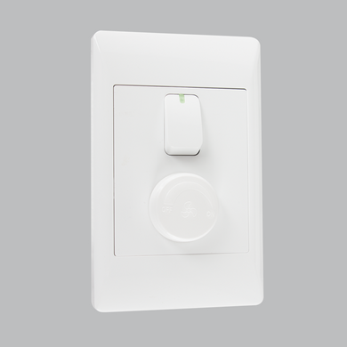 Fan speed control + light switch