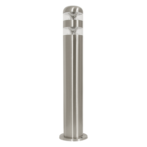 Stainless Steel Bollard with Clear Polycarbonate - LED
