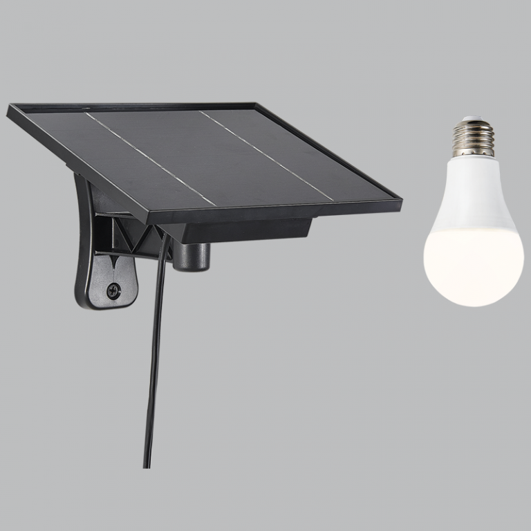 Solar Panel with Li-ion Battery & LED Bulb